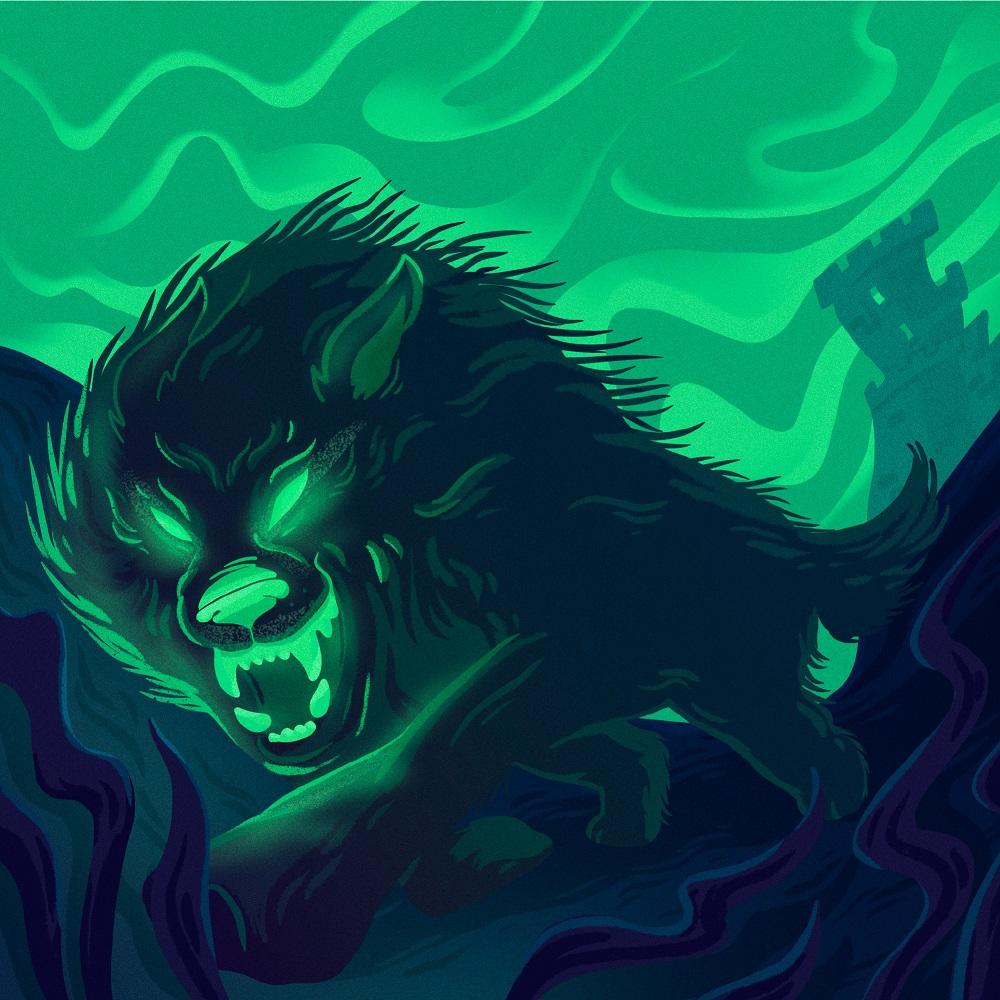 hound baskervilles book cover illustration