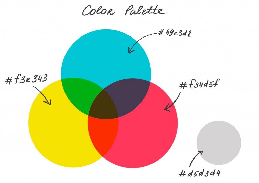 color palette illustration process