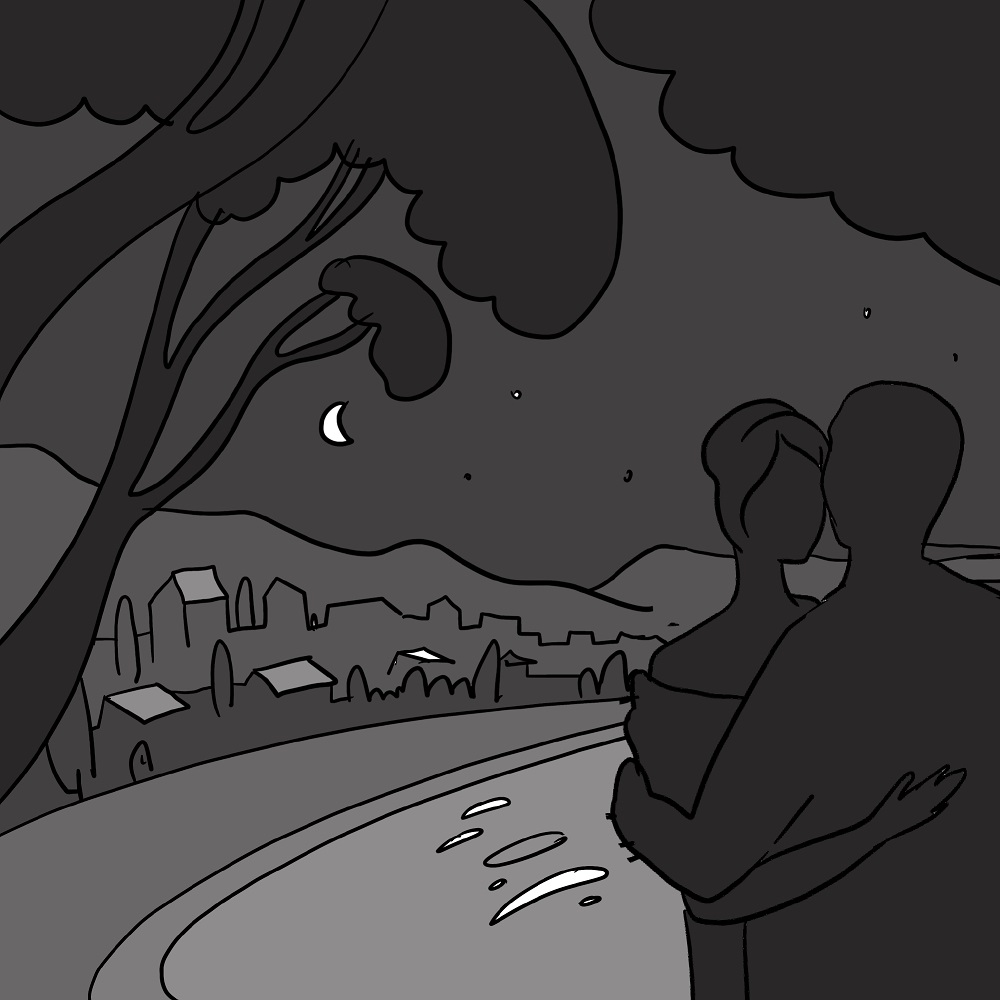 tender night illustration sketch book