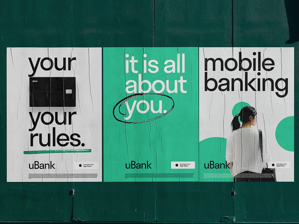 mobile banking posters