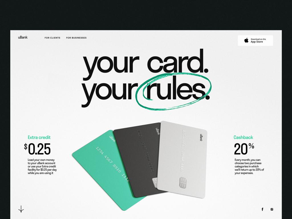 mobile banking web design