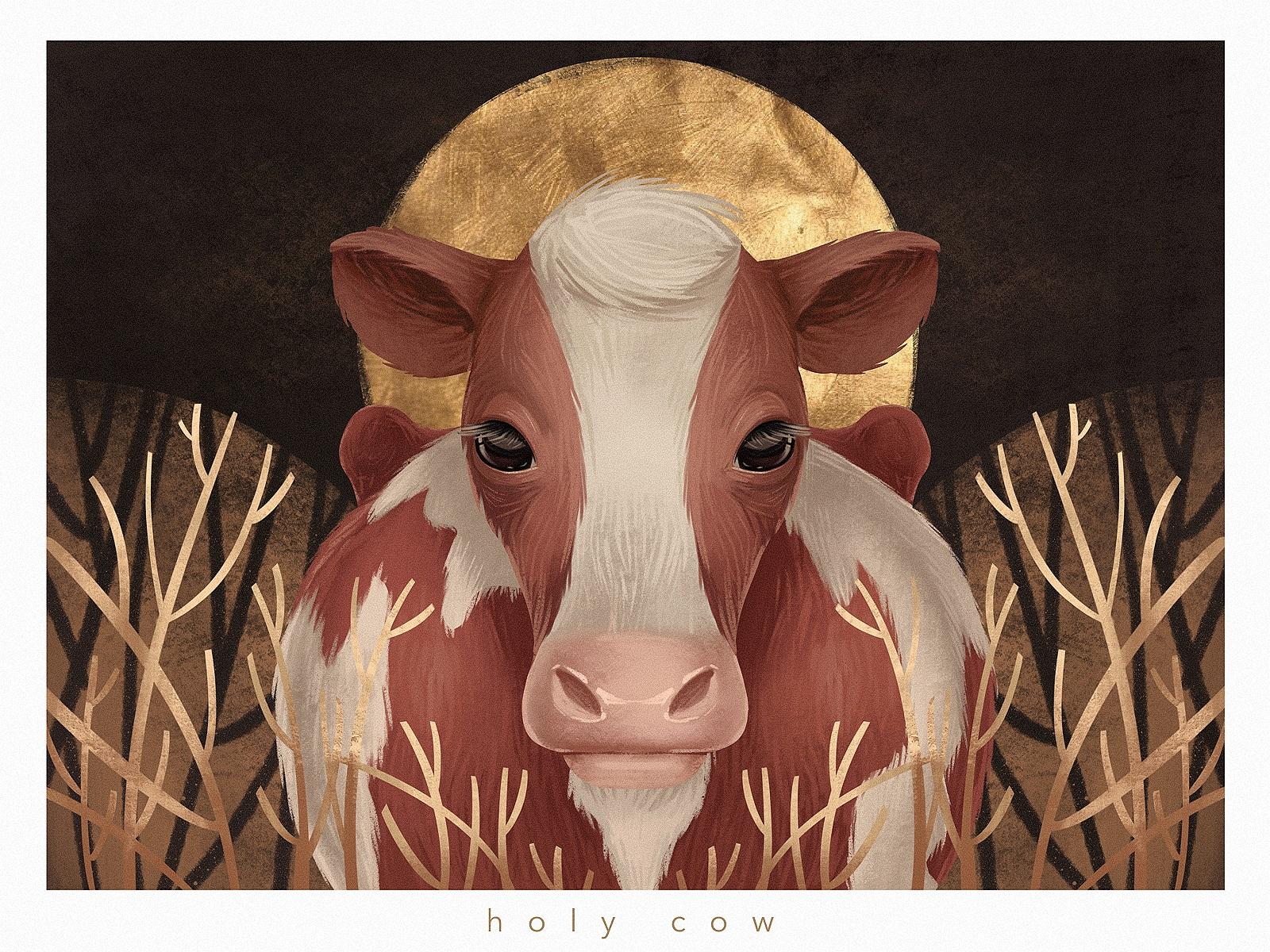 animal Holy Cow illustration tubikarts