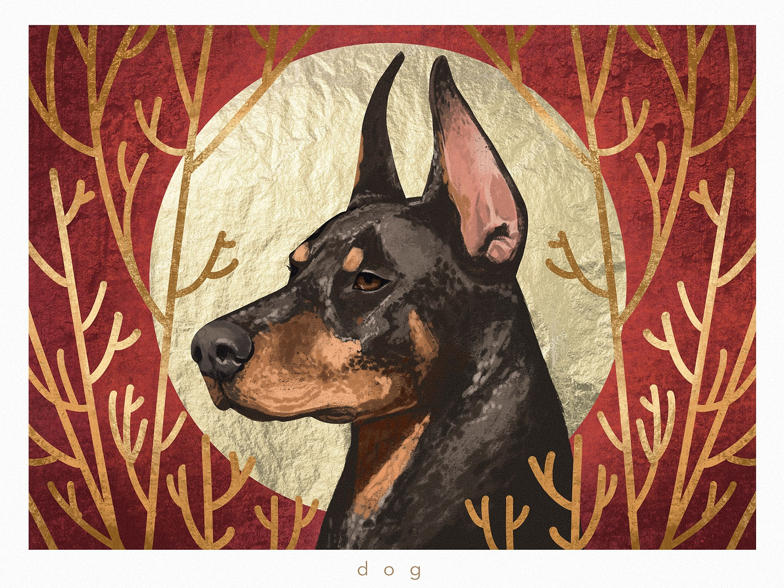 animal dog portrait illustration tubikarts