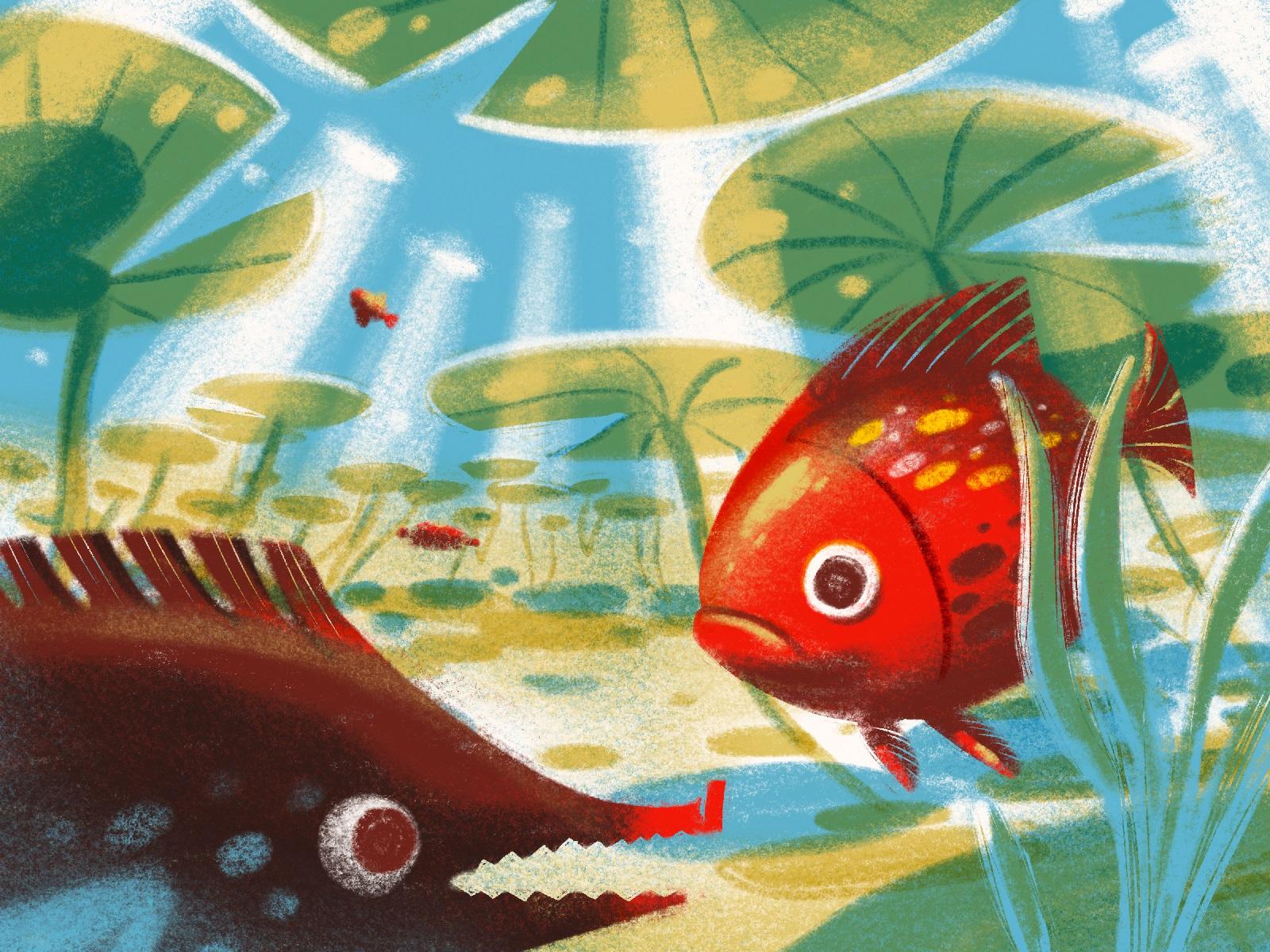 animal illustrations fish tubik arts
