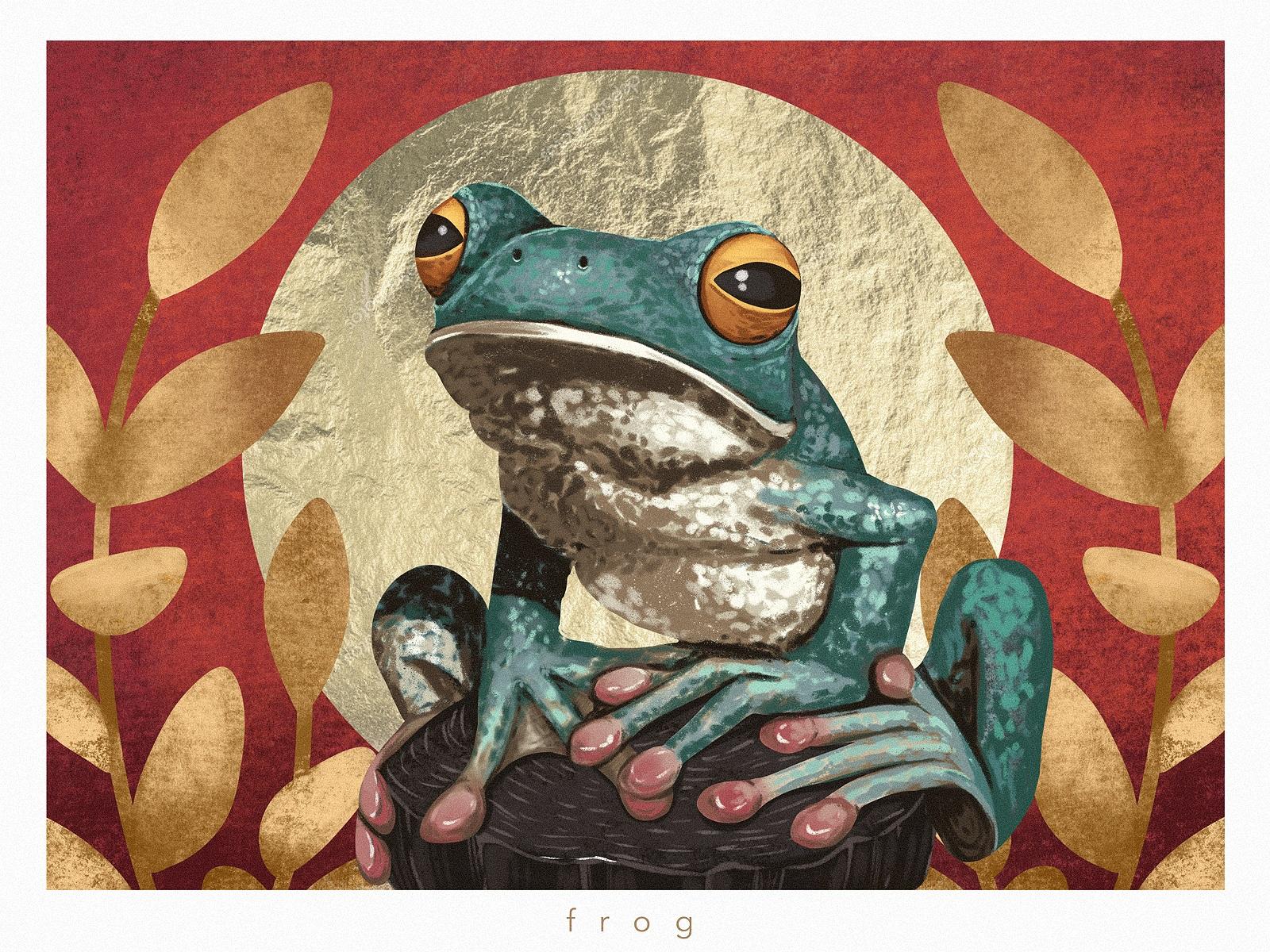 animal portraits frog