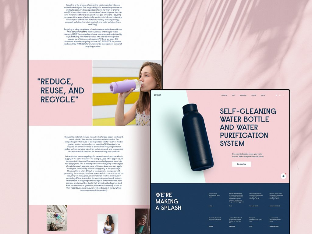 bottles website pages design tubik studio