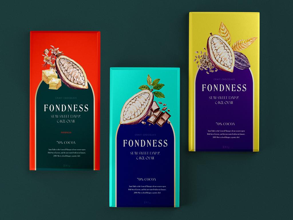 chocolate brand packaging design tubik