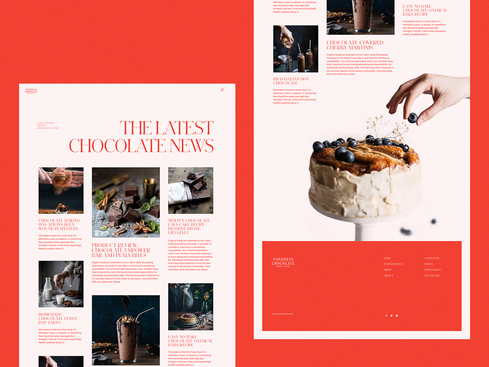 confectionery website design ecommerce tubik studio