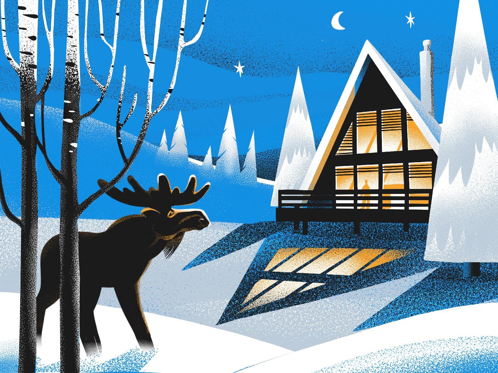 cosy winter illustration tubikarts