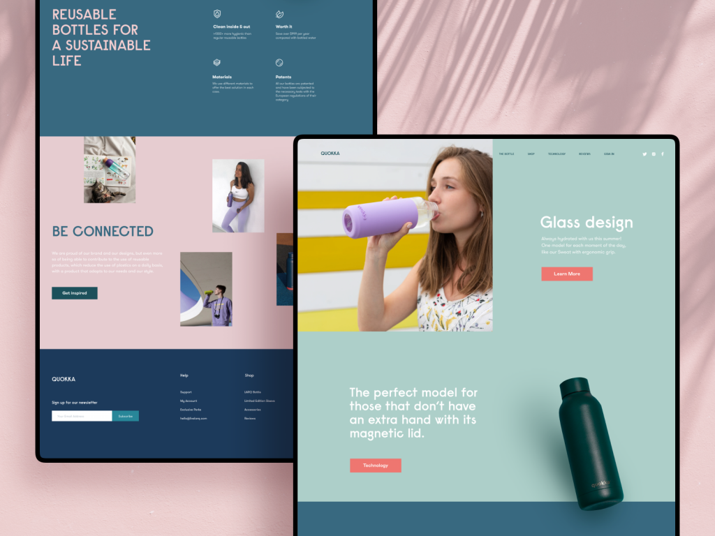eco bottles ecommerce web design tubik studio