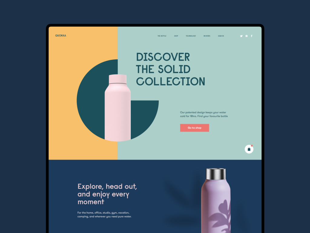 ecommerce web design bottles tubik studio