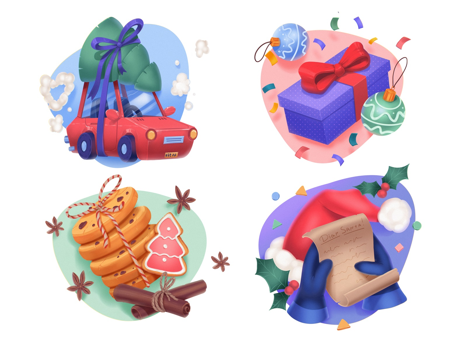 merry christmas icons tubik studio