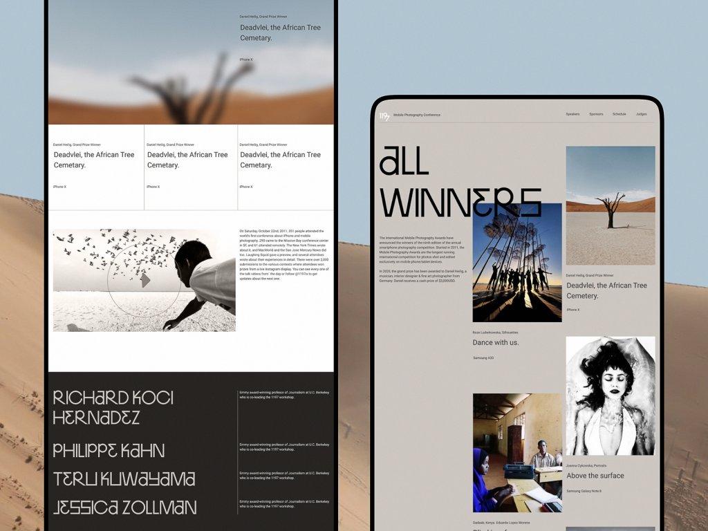 photography contest website design
