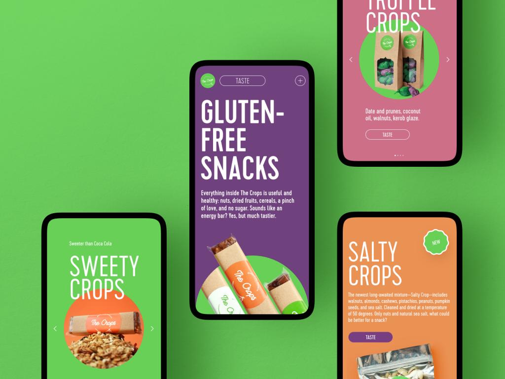 snack website ecommerce design