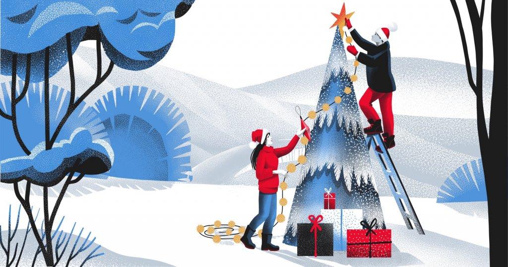 white christmas illustration small