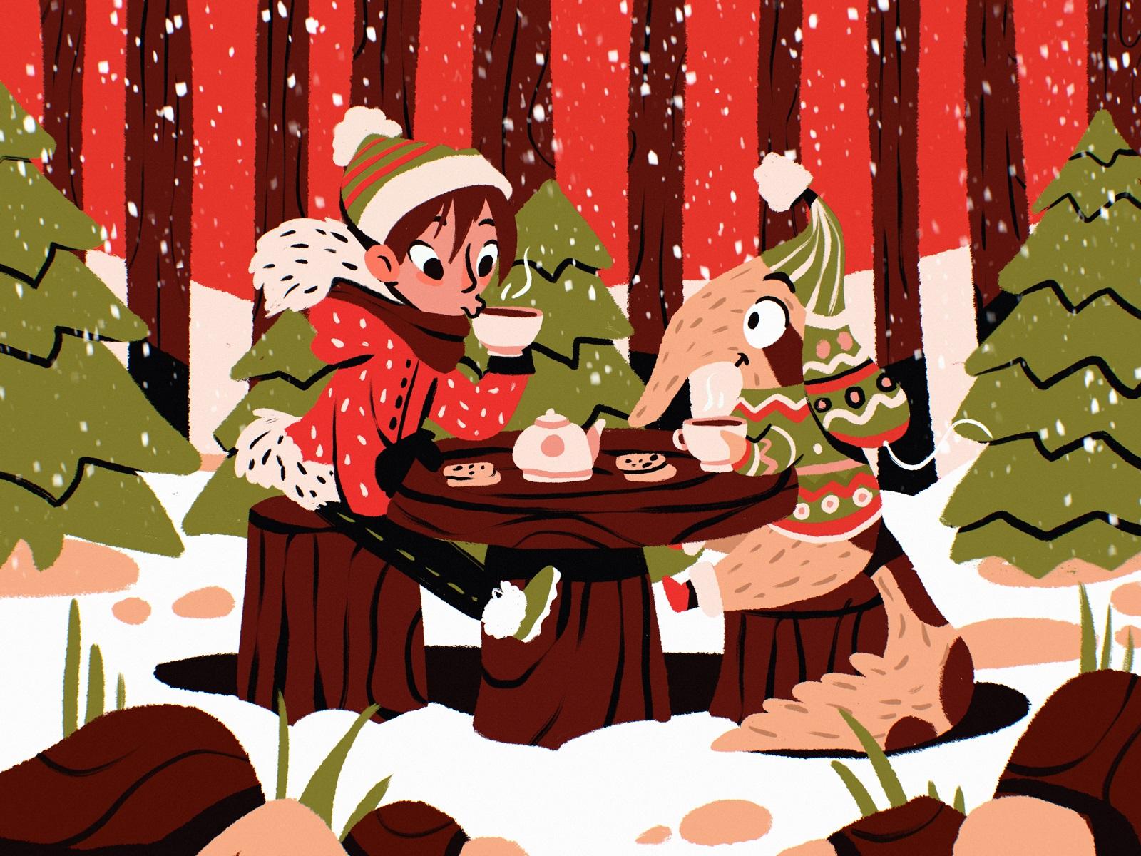 winter wonderland illustration tubik arts
