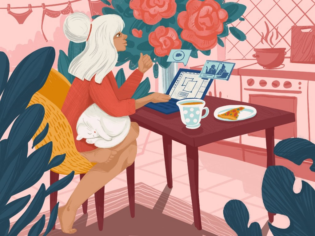 work from home illustration tubikarts