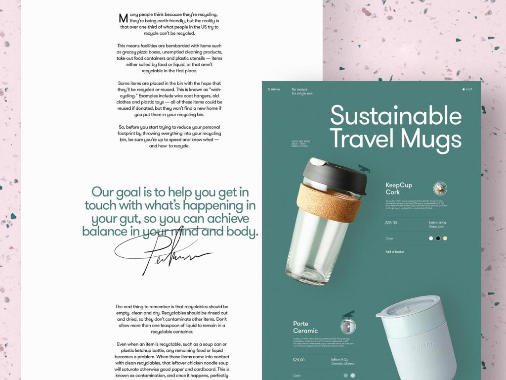 zero waste website design