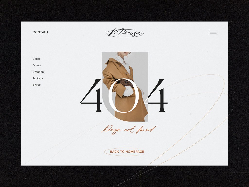 404 page ecommerce website tubikstudio