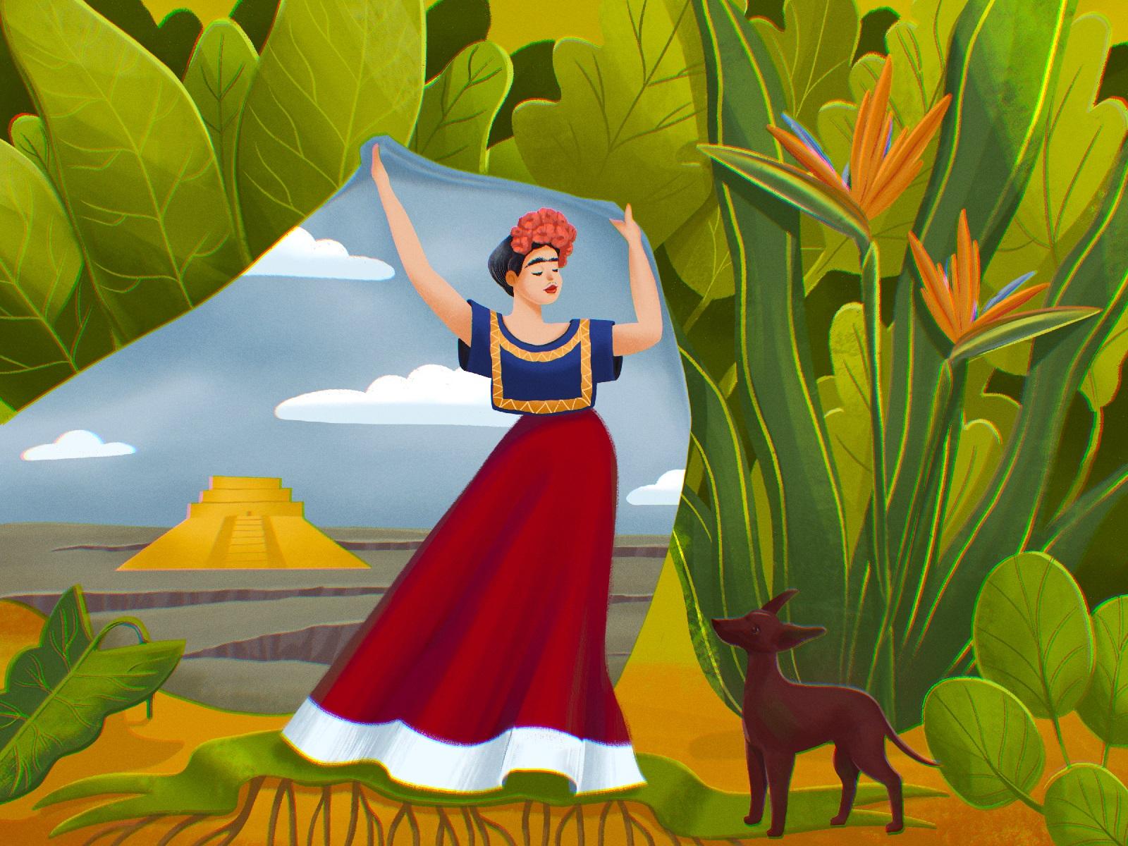 Frida Khalo artist illustration tubikarts
