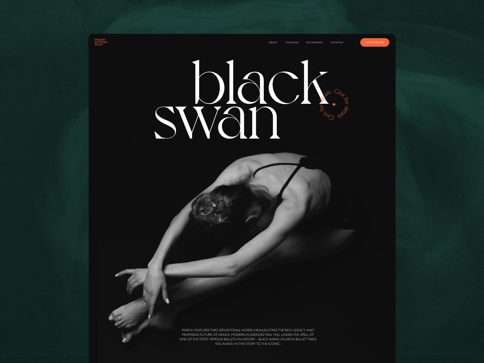 ballet website design tubikstudio