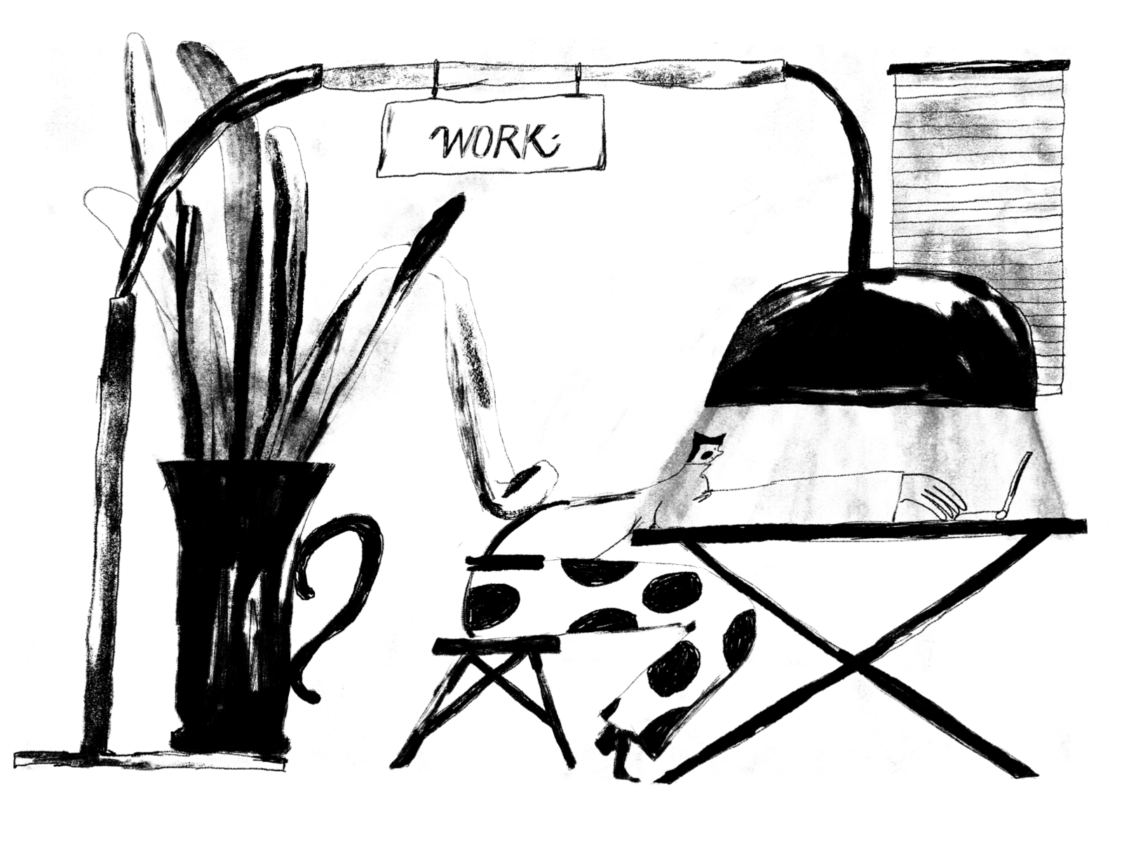 black and white illustration designers
