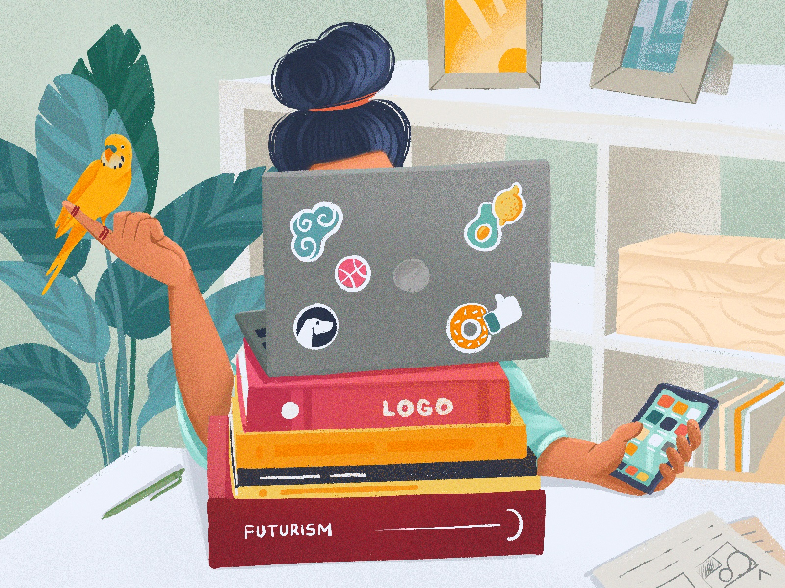 creative workspaces illustrations tubikarts