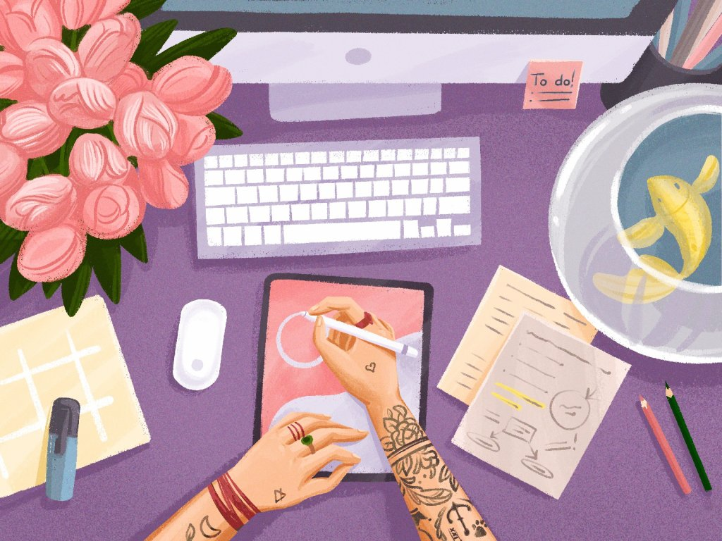 creative workspaces illustrations tubikarts