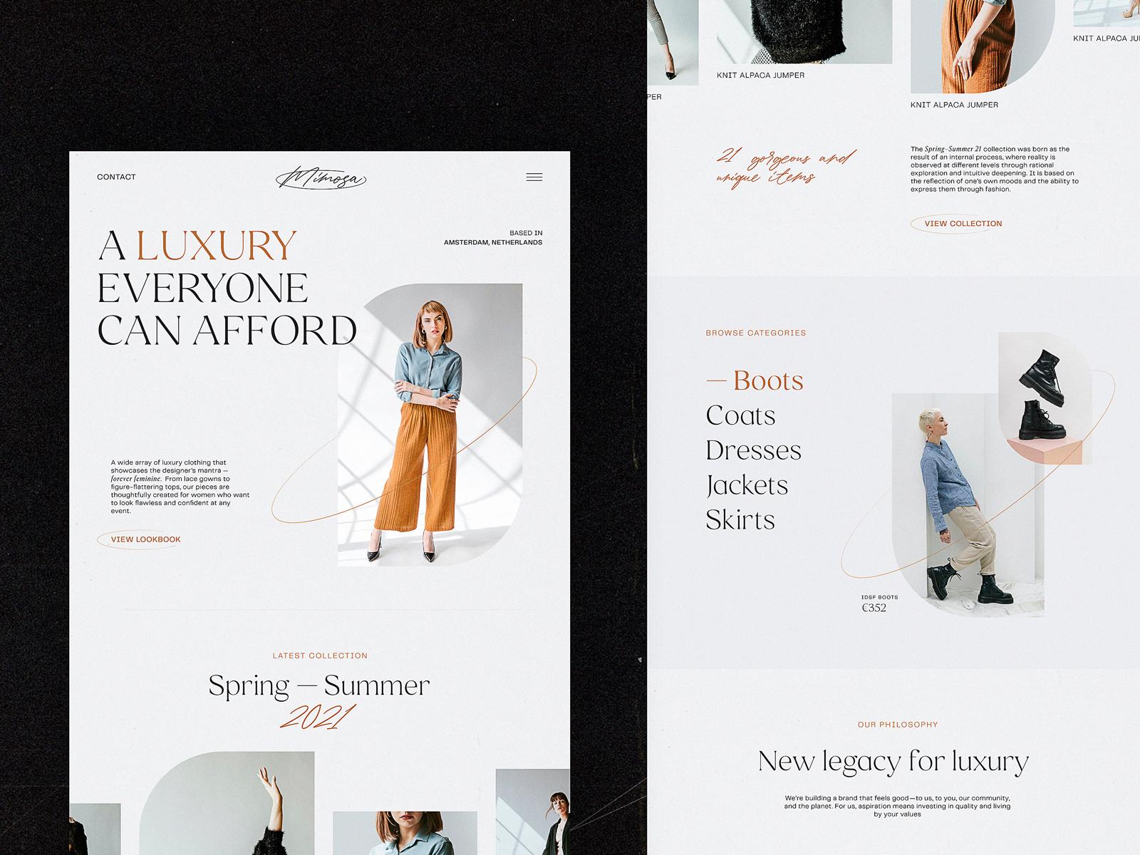 fashion brand ecommerce website tubik design