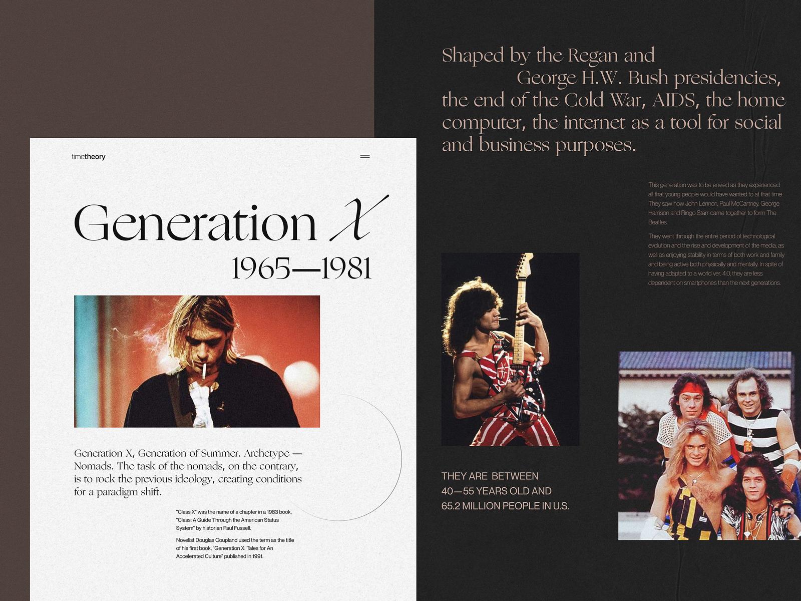 website for editoria about generations tubik studio