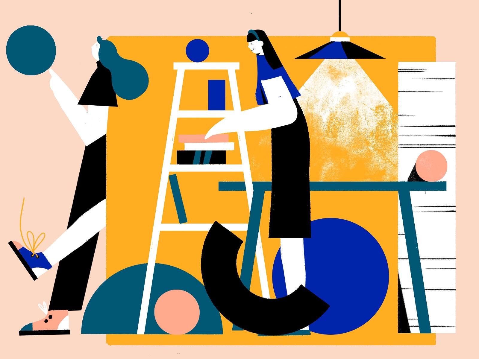 geometric world illustration tubik arts