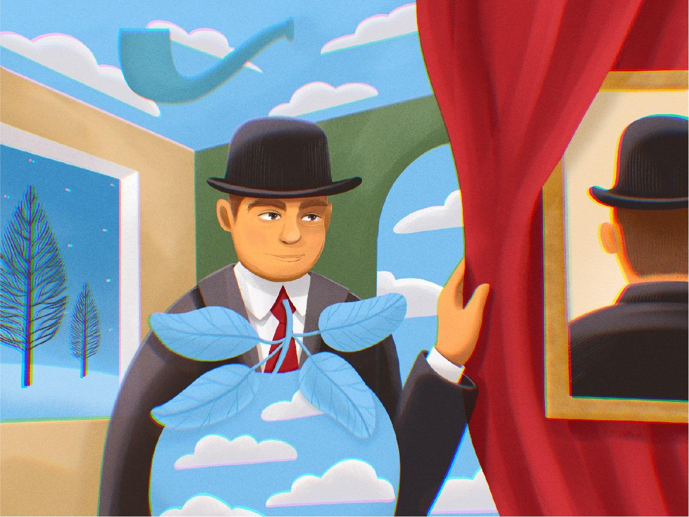 magritte illustration tubikarts