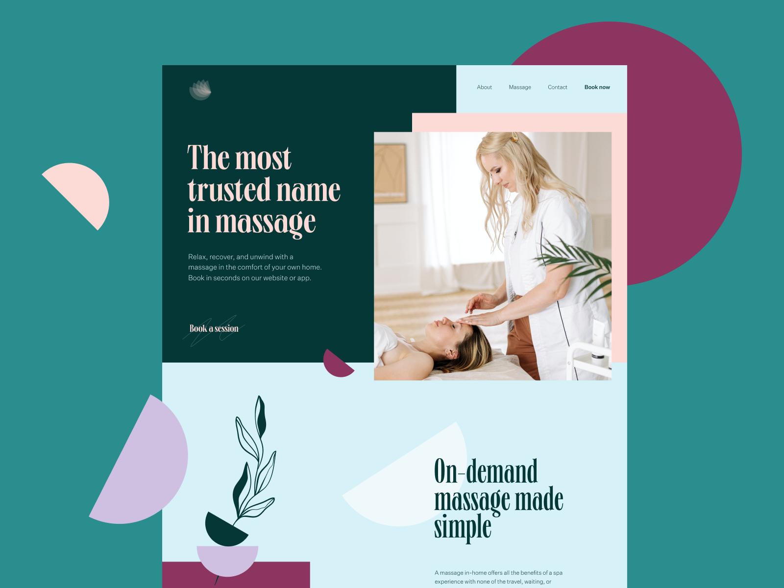 massage services website tubik studio