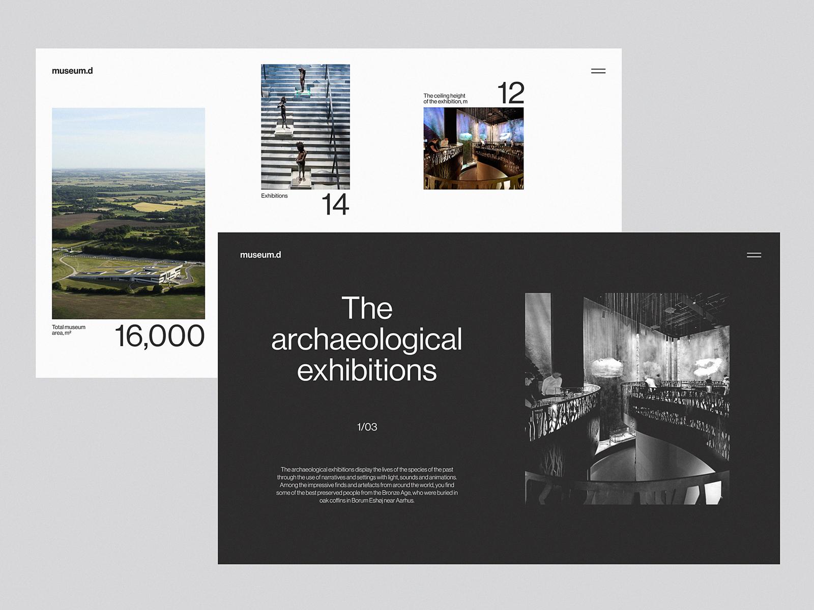 museum web pages tubik studio