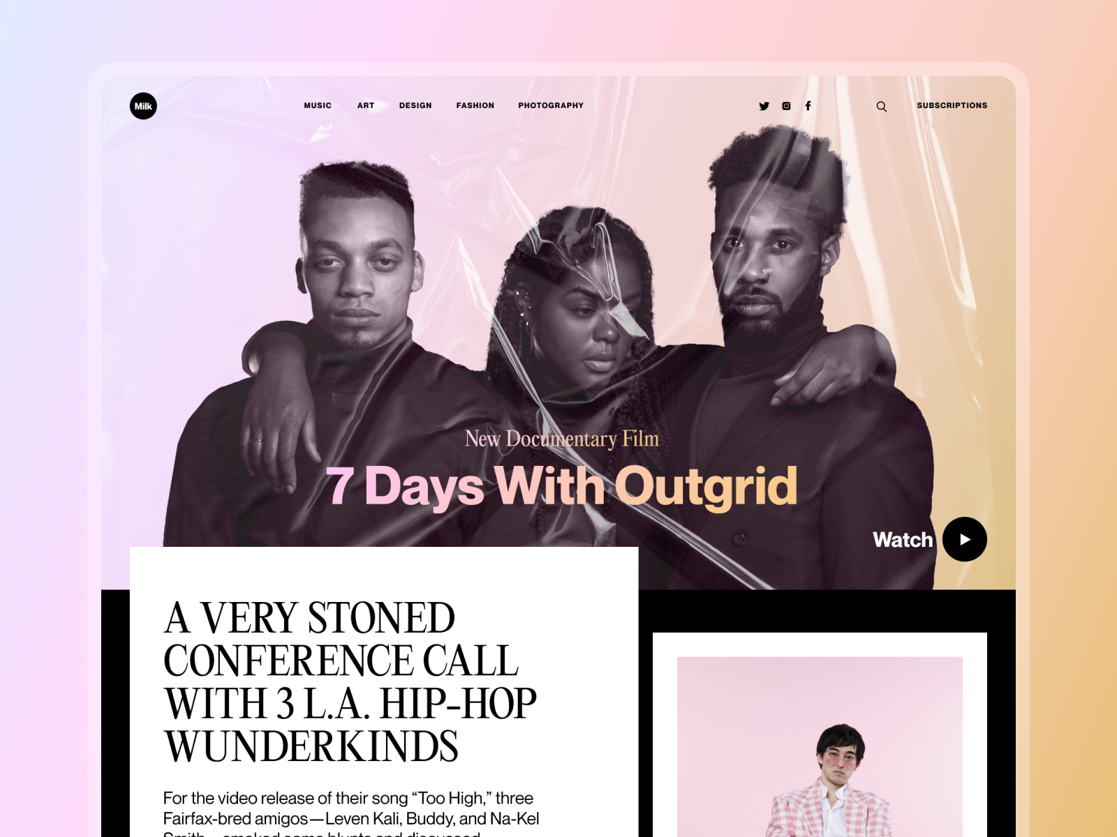 online magazine design concept