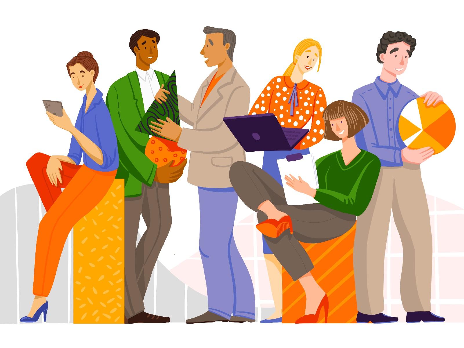 work in team illustration tubikarts