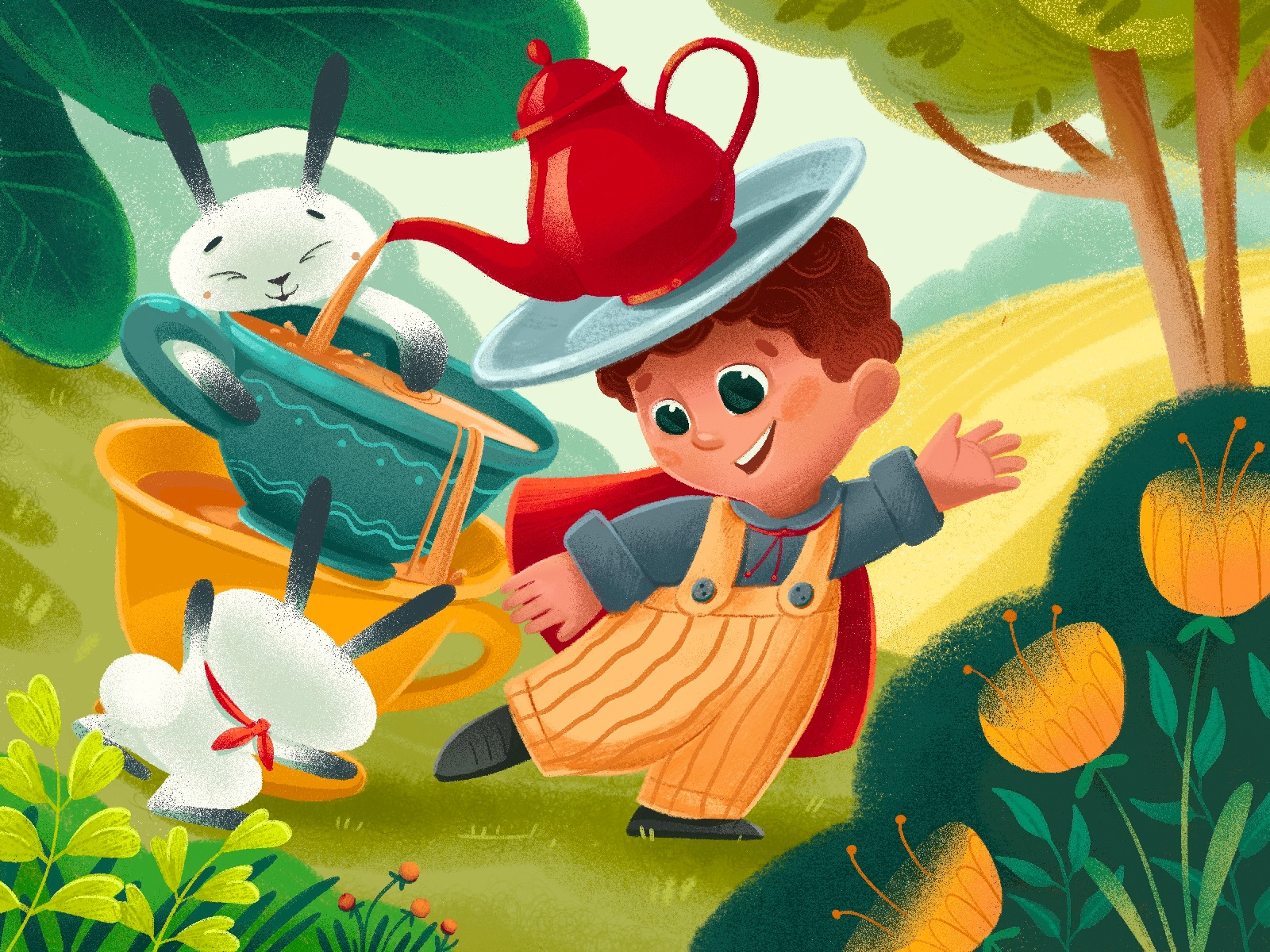 forest tale book illustrations tubikarts
