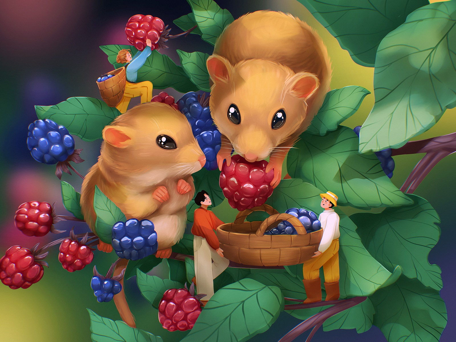 nature wonderland book illustrations tubik