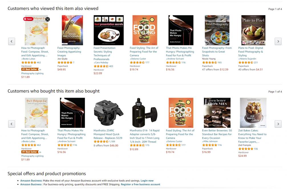 product page amazon