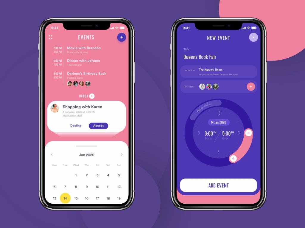 event app design tubik