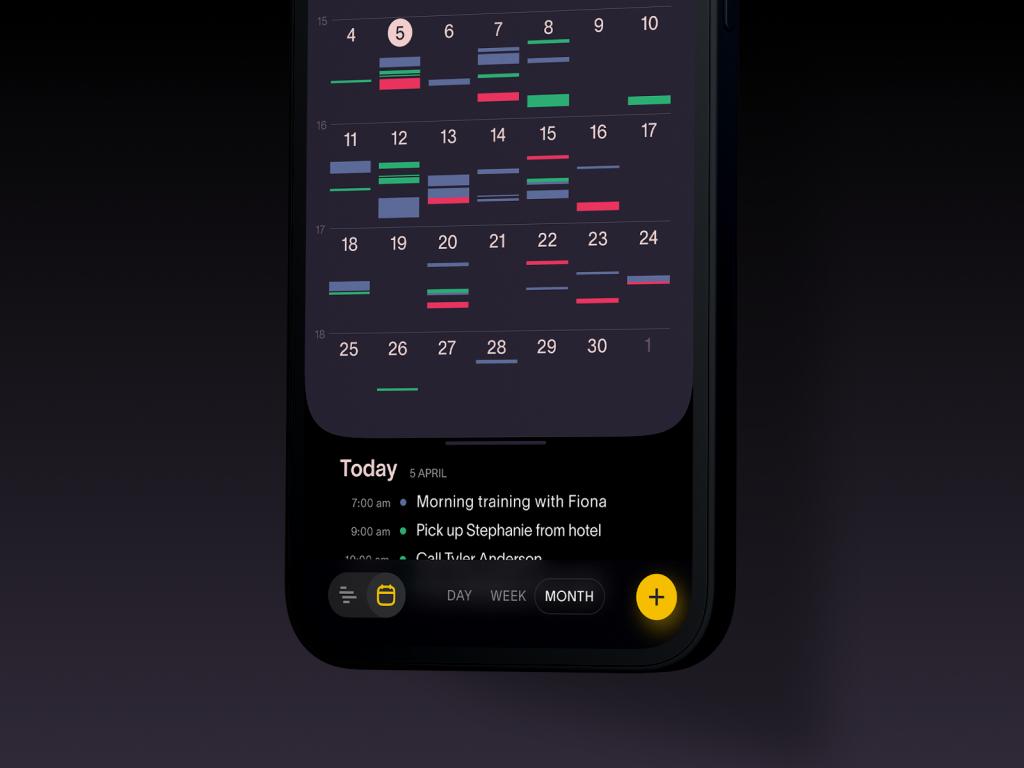 task manager app design tubik