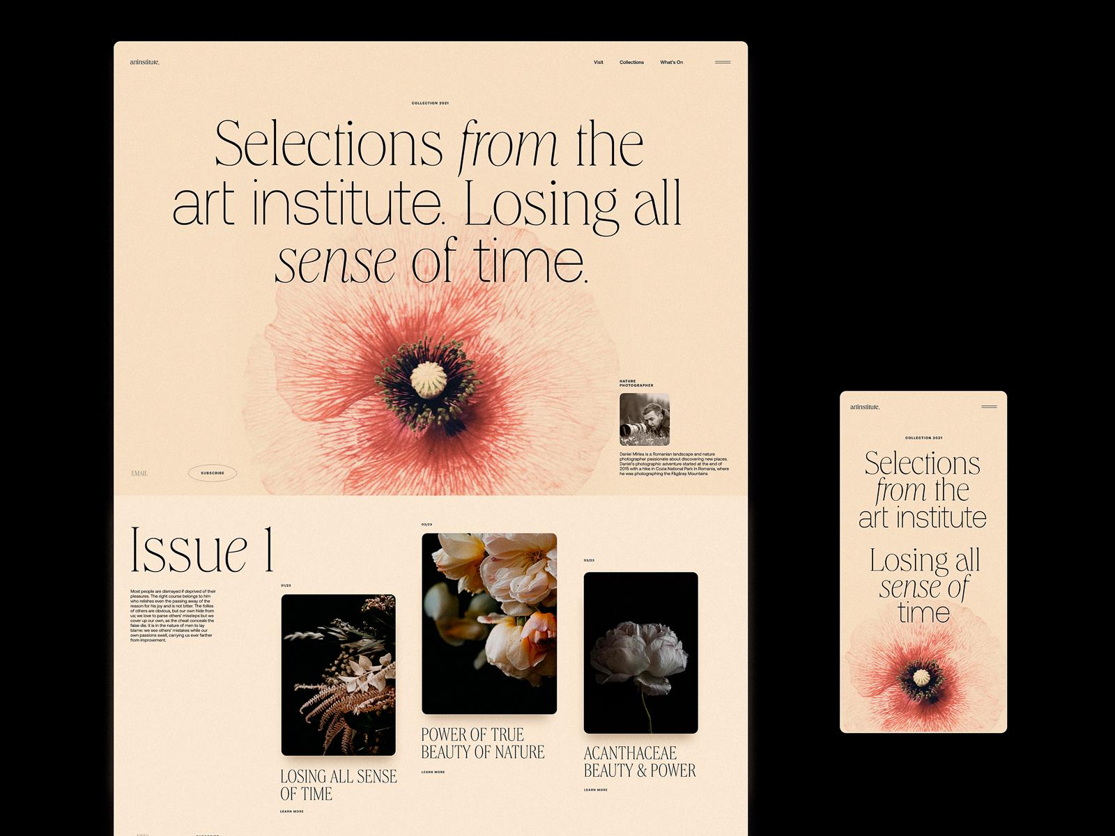 art institute blog design tubik