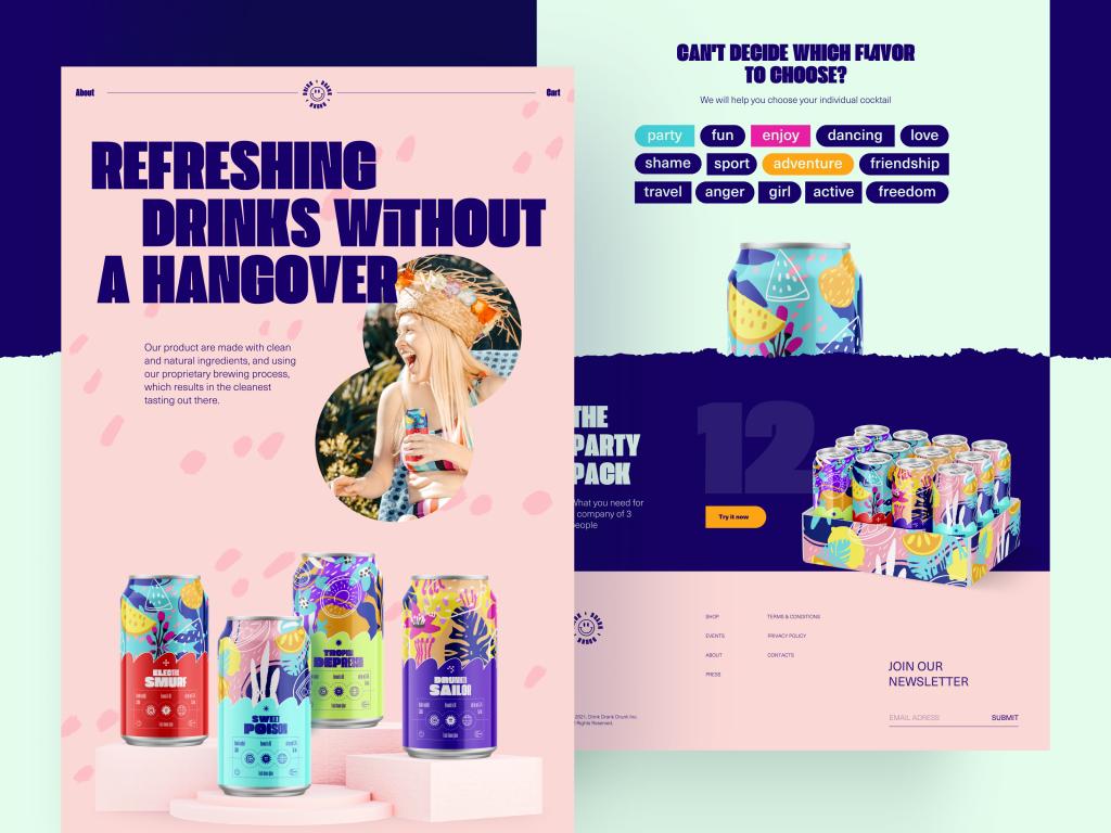 drinks ecommerce web design tubik