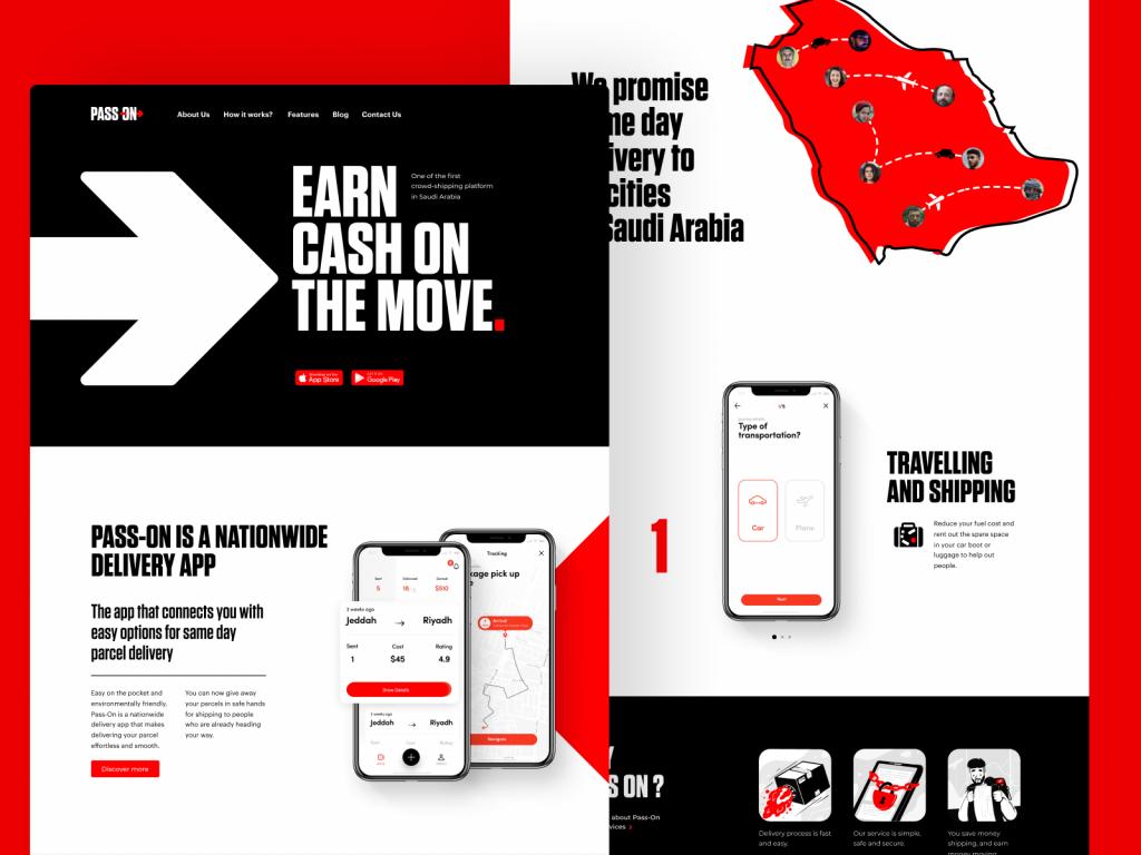 pass on web design tubik