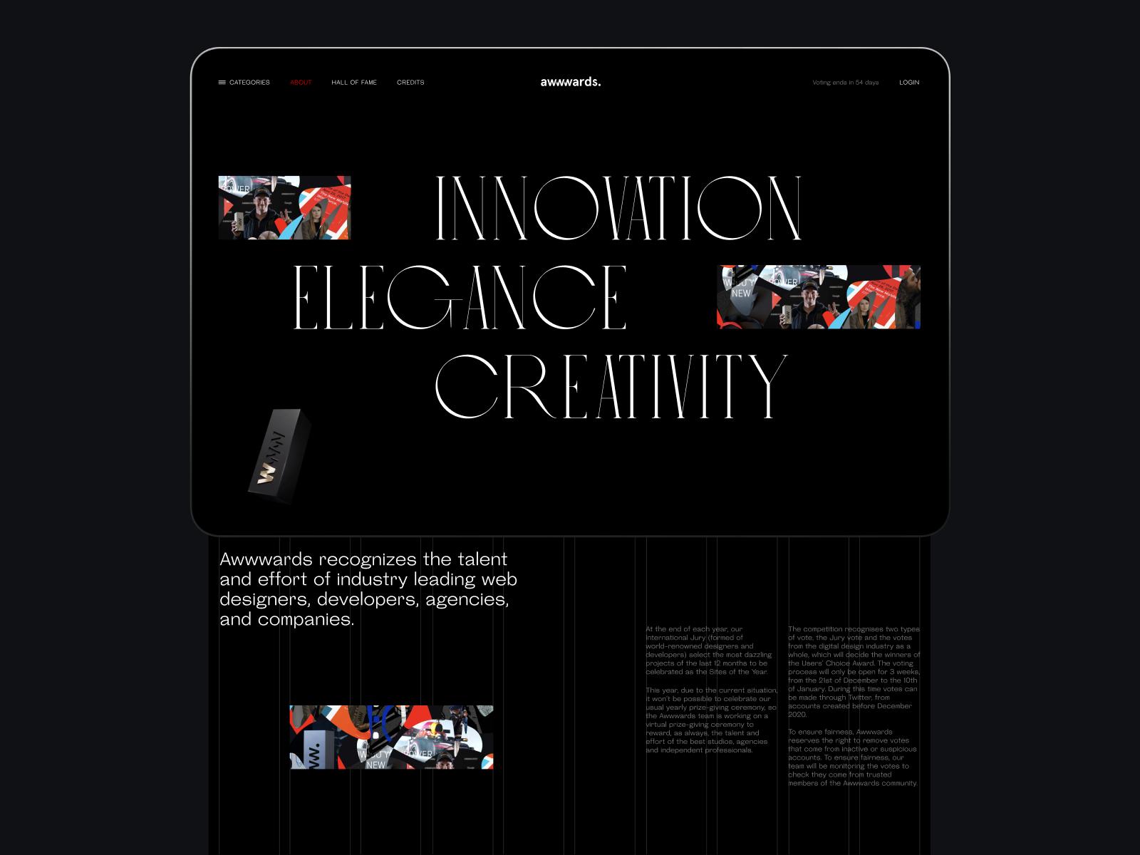 creative grid awwwards website tubik