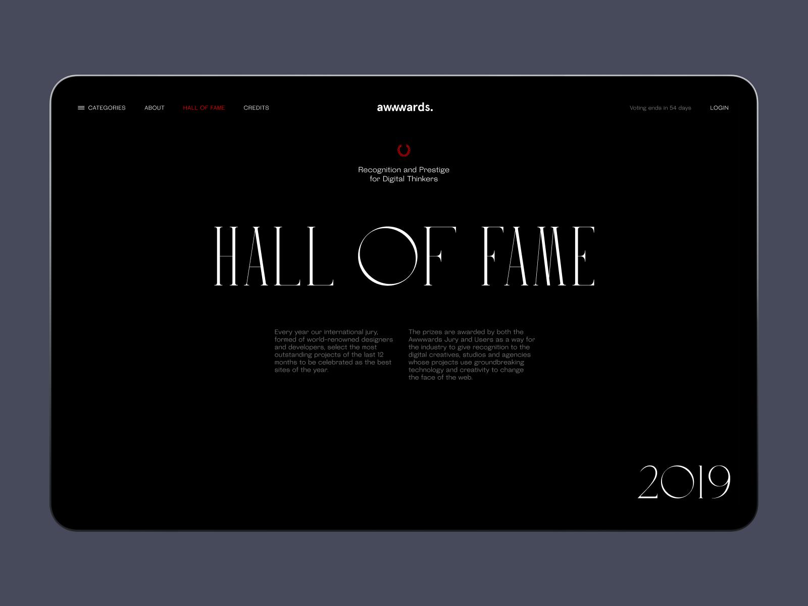 hall of fame awwwards website tubik
