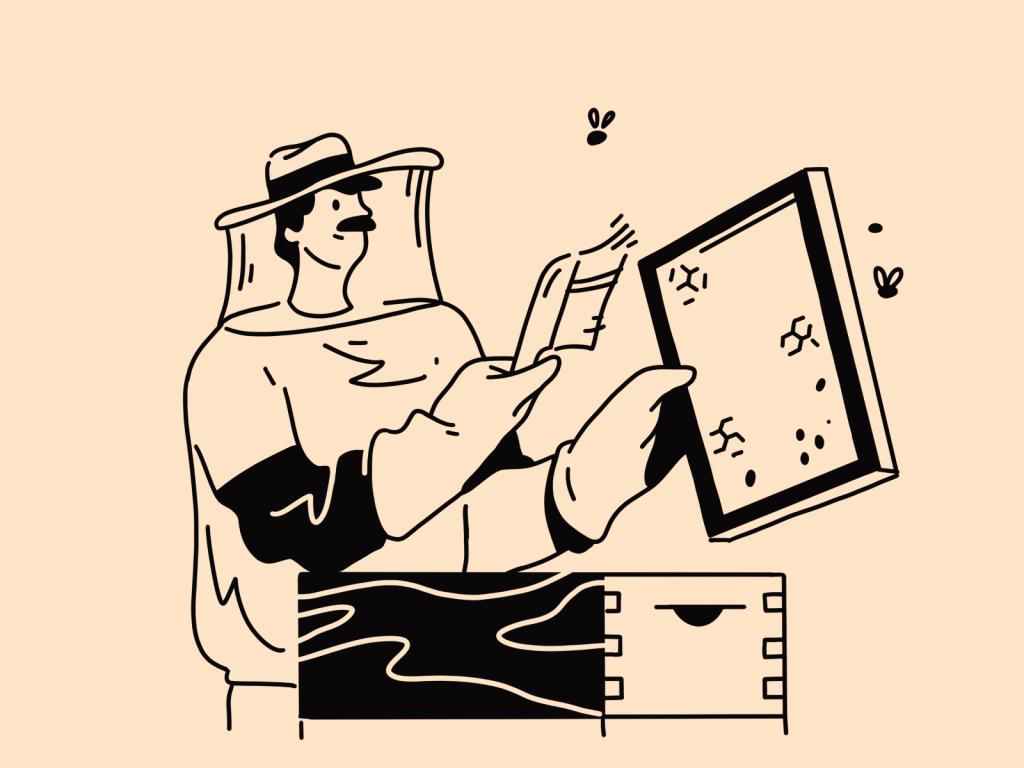 beekeper illustration