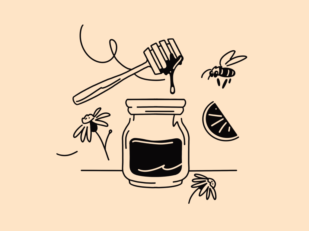 honey illustration