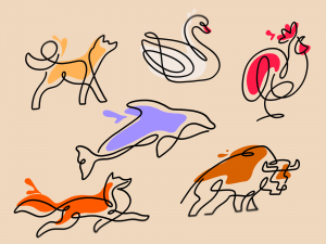 lineart animals
